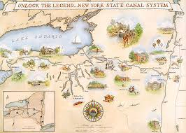 map of the erie canal york state canal system