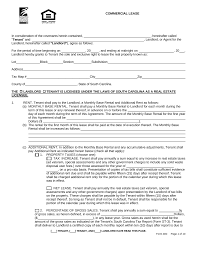 free south carolina commercial lease agreement pdf eforms