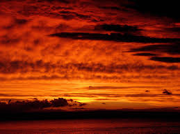 red sky links to the ligting state of a red night sky with