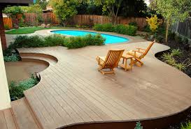 Patios And Decks For Small Backyards by Small Backyard Above Ground Swimming Pool With Deck Ideas Wooden