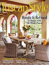tuscan style magazine subscription ideas