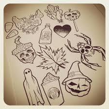 25 beautiful halloween tattoo flash ideas on pinterest
