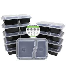Lunch Storage Containers For Adults Freshware 15 Pack 2 Compartments Bento Lunch Box With Lids Use For 21