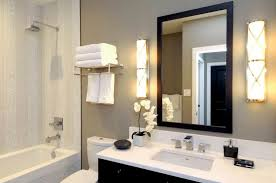 Bathroom Sconce Height Bathroom With Tube Wall Sconces And Using Towel Rack Standard