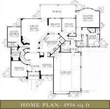 Floor Plans For 5000 Sq Ft Homes 4500 5000 Sq Ft Homes Glazier Homes Glazier Homes