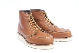 light brown boots womens 6 inch moc toe womens boots 3375 red wing london