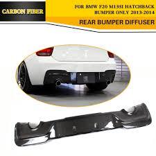 subaru dual exhaust carbon fiber rear bumper lip car diffuser dual exhaust for bmw f20