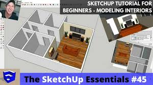 tutorial sketchup modeling sketchup tutorial for beginners part 3 modeling interiors from