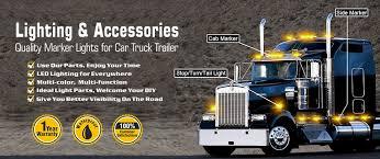 led truck marker lights trailer truck amber 11 led 15 turn signal clearance marker light