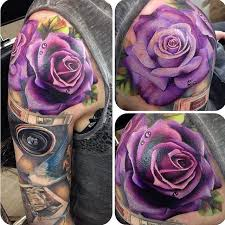 ideas about purple rose tattoos on pinterest rose tattoos