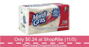 mardi gras napkins grab mardi gras napkins for only 0 24 at shoprite 11 5 the