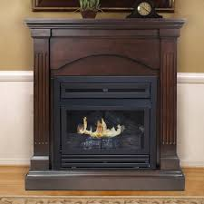 Dual Gas And Wood Burning Fireplace by Pleasant Hearth Dual Fuel Vent Free Wall Mount Gas Fireplace