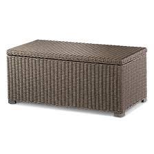 heatherstone wicker patio storage trunk coffee table threshold