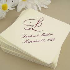 printed wedding napkins custom printed linen white like cocktail napkins set of 50