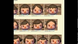 hair styles at the shoodle in animal crossing new leaf animal crossing city folk hair color guide printable coloring image