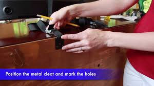 Furniture Wall Straps Securing Tv To Furniture With Anti Tip Tv And Furniture Straps