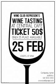 customizable design templates for wine tasting postermywall