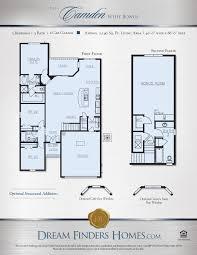 camden floor plan camden w bonus dream finders homes