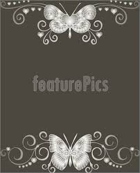 fustianed black and white butterfly background