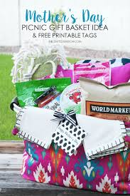 printable tags for gift baskets day picnic gift basket idea