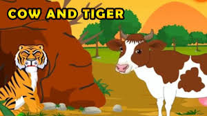 cow and tiger animated kids story kids animated stories