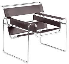 elegant wassily chair brown leather 24 in best design interior