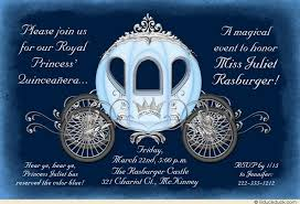 quinceanera cinderella theme cinderella quinceanera invitation enchantment blue