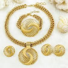 big necklace images Fashion christmas jewelry dubai women big necklace earrings gold jpg