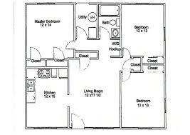 3 bedroom floor plan 3 bedroom apartment floor plans homeca