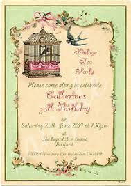 any age shabby chic vintage tea party birdcage birthday