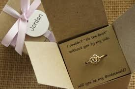 asking bridesmaid gifts tie the knot ring will you be my bridesmaid gift of honor
