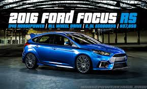 ford focus 2015 rs update 2016 ford focus rs revealed 350 hp 2 3l ecoboost and awd