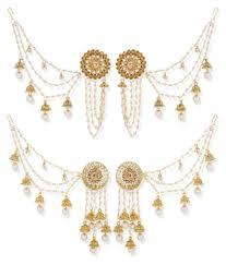 jhumka earrings with chain the luxor bahubali devsena heavy jhumki jhumka earrings with hair