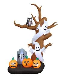 halloween inflateables amazon com 9 foot tall halloween inflatable tree with ghosts