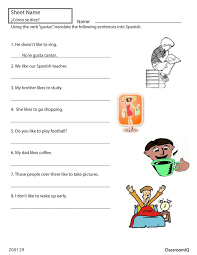 8 best spanish worksheets level 2 images on pinterest spanish