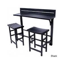 Pub Patio Furniture Bar Table Stools 3 Piece Set Deck Outdoor Pub Patio Furniture Modern
