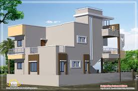 3d exterior view of an apartment design indianhomedesign com