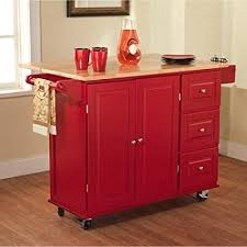 red kitchen cart island amazon com sundance kitchen cart multiple colors red kitchen