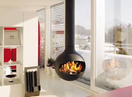 Mid Century Modern Electric Fireplace by 15 Hanging And Freestanding Fireplaces To Keep You Warm This Winter