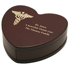 engravable keepsake box personalized heart shaped rosewood keepsake box with caduceus for
