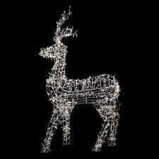 lighted reindeer northlight 60 white led lighted standing reindeer outdoor