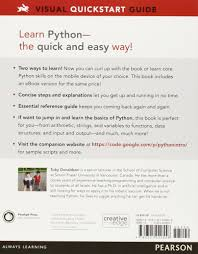 python visual quickstart guide 3rd edition toby donaldson