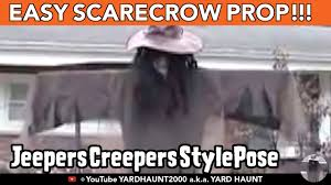 scarecrow jeepers creepers pose prop simple pvc halloween yard