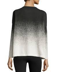 catherine malandrino hariet knit long sleeve ombre top in black lyst