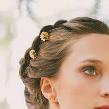 flower hair pins gold flower hair pins flower bobby pins from echoandlaurel on