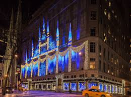 saks fifth avenue lights winter palace at saks fifth avenue holiday lighting 2015 live design