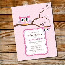 cute baby owl invitation for a baby shower instantly