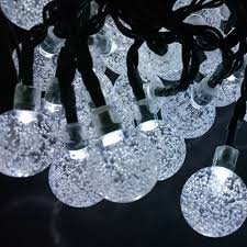 Solar Powered String Lights Patio by Sunvao Bright White Solar Powered Globe String Lights 30 Led