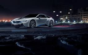 car bmw wallpaper hd background bmw i8 in white color side view night wallpapers