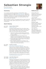 Publications On Resume Example by News Editor Resume Samples Visualcv Resume Samples Database